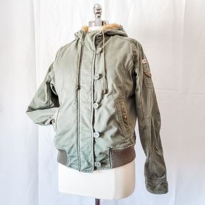 GUC Roots faux fur-lined jacket